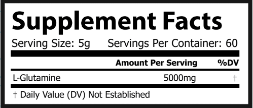 nutrition facts pure glutamine